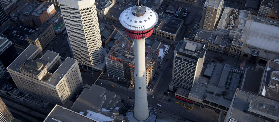Calgary Tower Aerial View